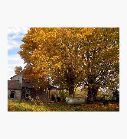 A Forsaken Farmhouse in Fall Photographic Print