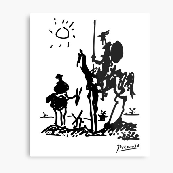 Pablo Picasso Don Quixote 1955 Artwork Shirt, Reproduction Metal Print