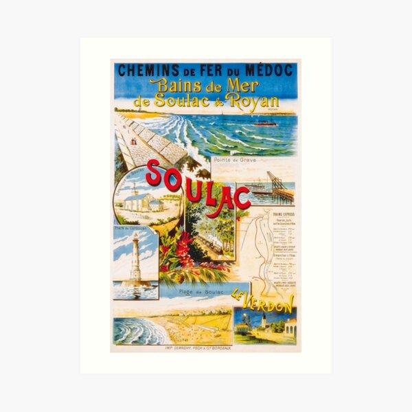 Affiche de Royan, Soulac et Le Verdon 1900 Impression artistique