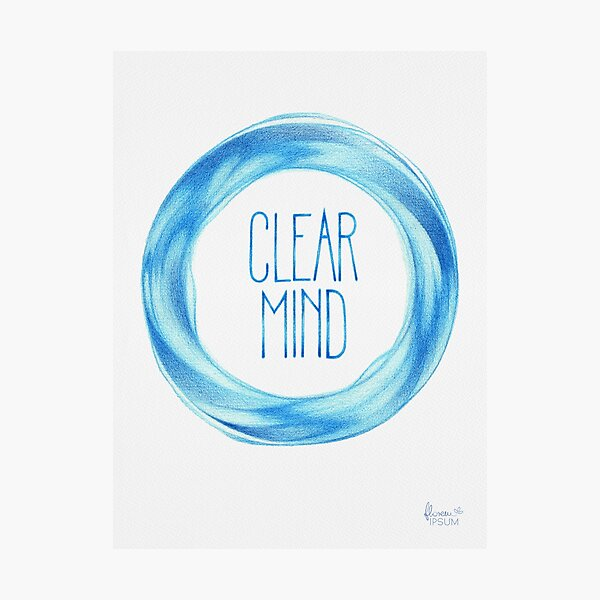 Clear Mind  Photographic Print