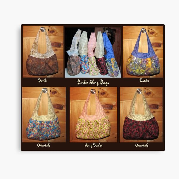Birdie Sling Bags Canvas Print