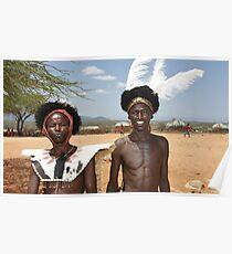 maasai warriors Poster