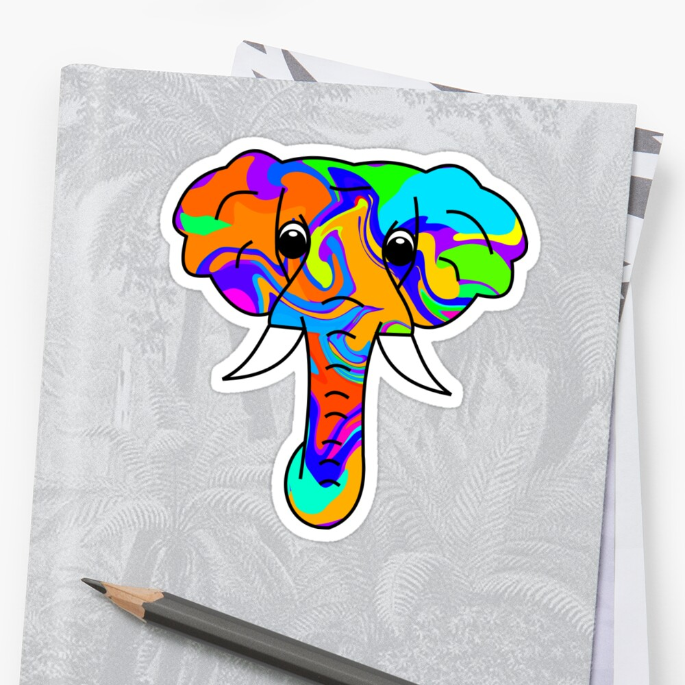 Colorful Elephant by ChrisButler