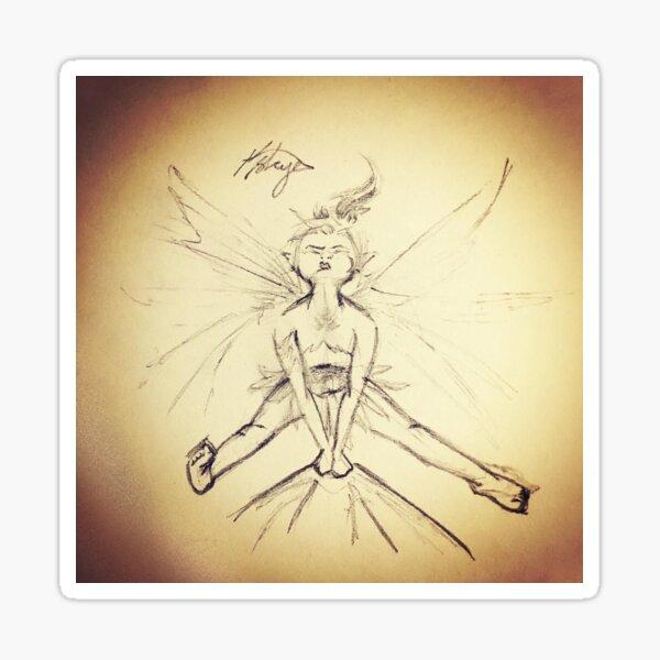 Helpful Fairy Sketch Sticker