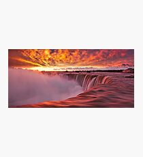 Horseshoe Falls at sunrise Photographic Print