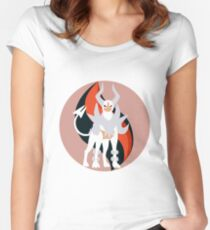 Mega Charm Mega Houndoom Women's Fitted Scoop T-Shirt