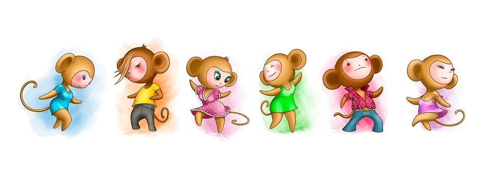 Dansing monkey by Brizhakhin