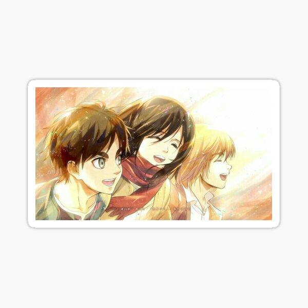 Eren Mikasa Armin Snk Sticker