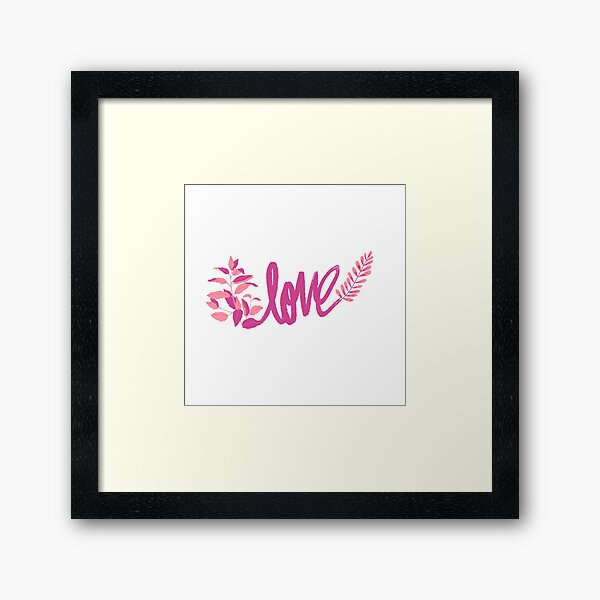 Pink Love Framed Art Print