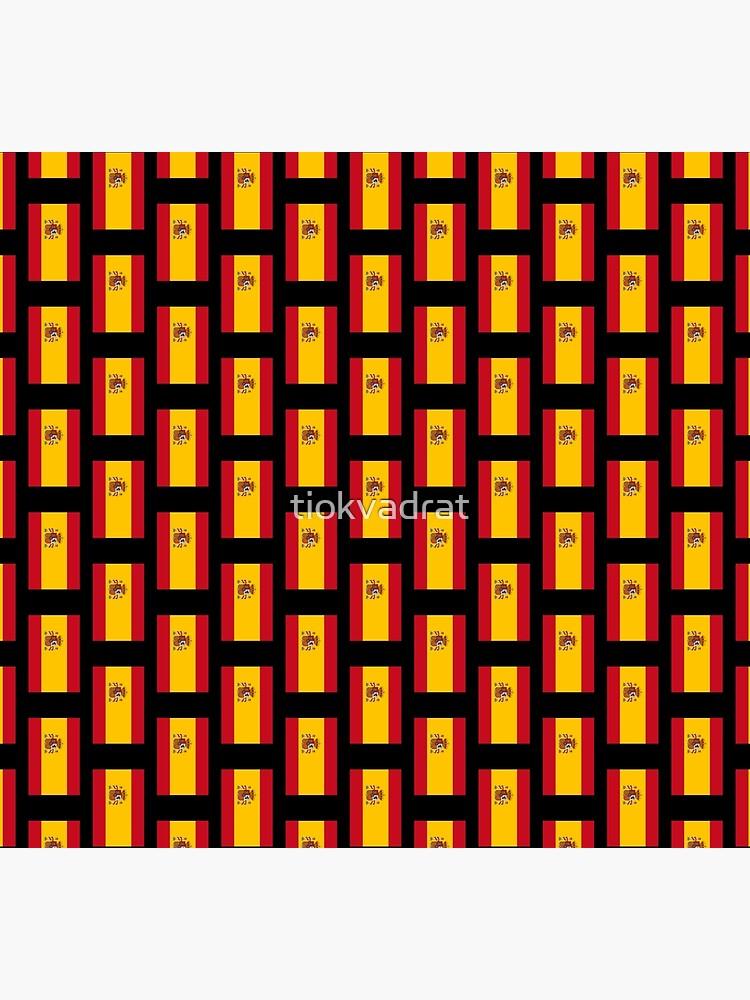 Spanish Flag (Bandera de España, Spain). On Black. by tiokvadrat