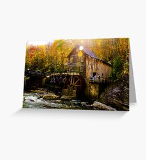 Babcock state park - Glade Creek Grist Mill Greeting Card