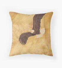 Bald Eagle - Wood Art Throw Pillow