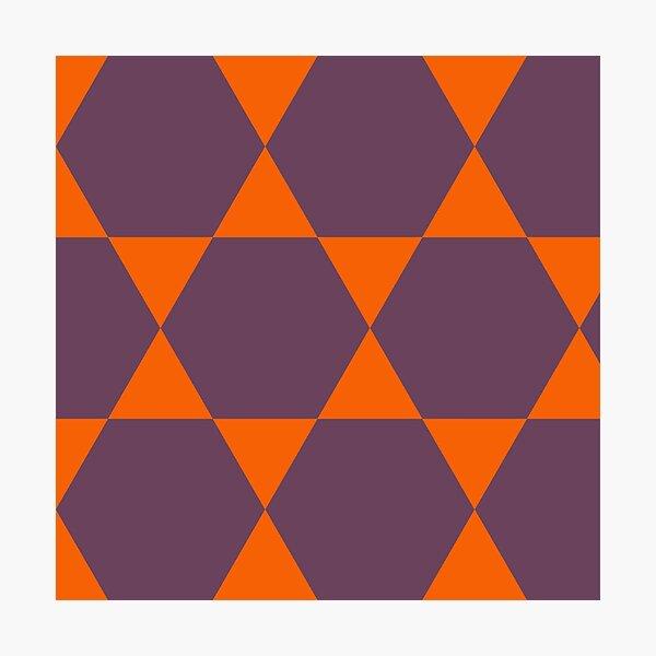 Orange and Purple Daze Photographic Print