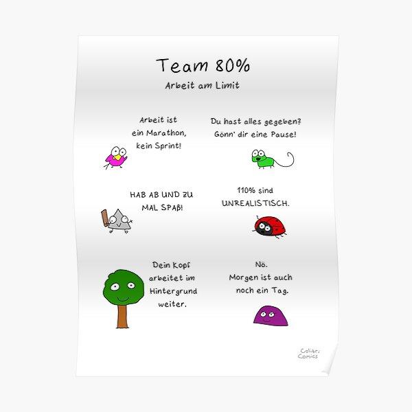 Team 80% - Arbeit am Limit Poster