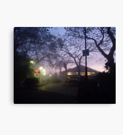 A foggy day, in Brisbane town Canvas Print