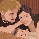 Family Portrait - Wood Art by Vincent Doan