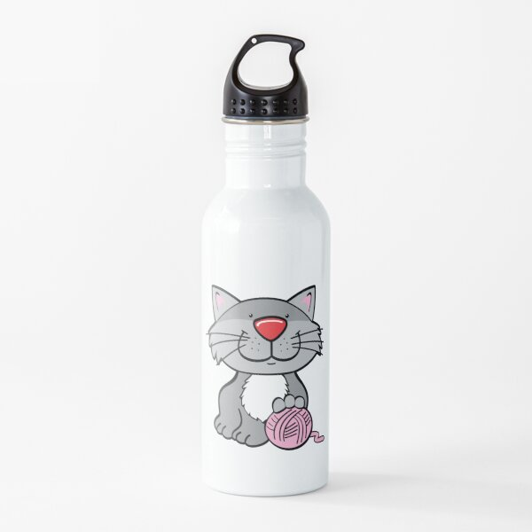 Cat and ball of wool Water Bottle
