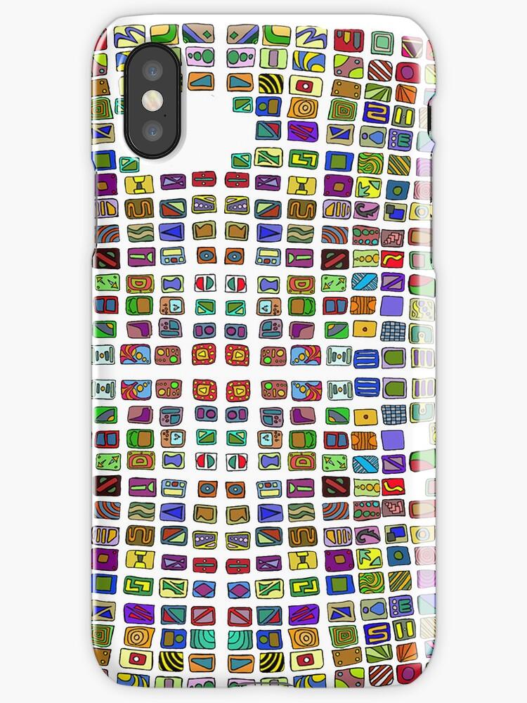 Broken Pattern for iphone by MuscularTeeth