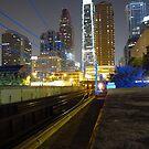 Train to Center City, Comcast Center by Schuyler L