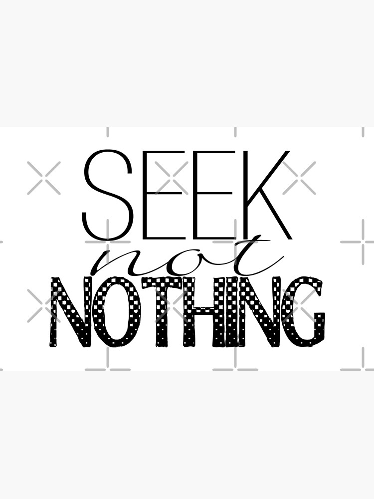 Seek Not Nothing Black And White Mixed Block Lettering Laptop Skin By Fashionmonger Redbubble