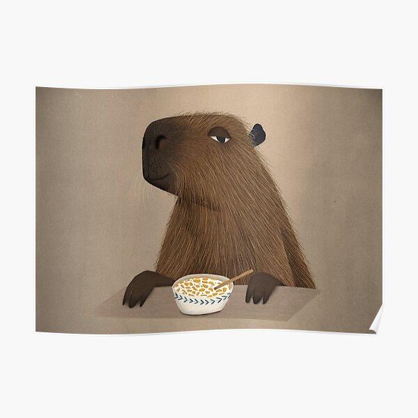 Cornflake Capybara Poster