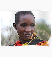 Maasai Girl Poster