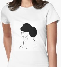 Bride with elegant hairstyle  T-Shirt