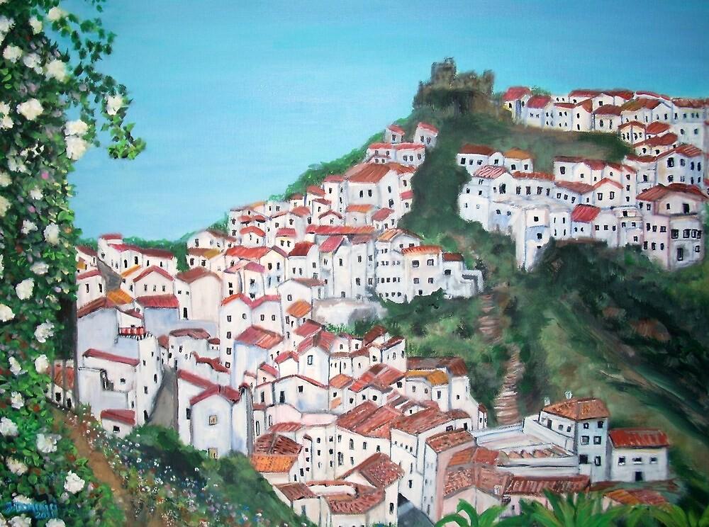 The village of Casares, Malaga by Teresa Dominici
