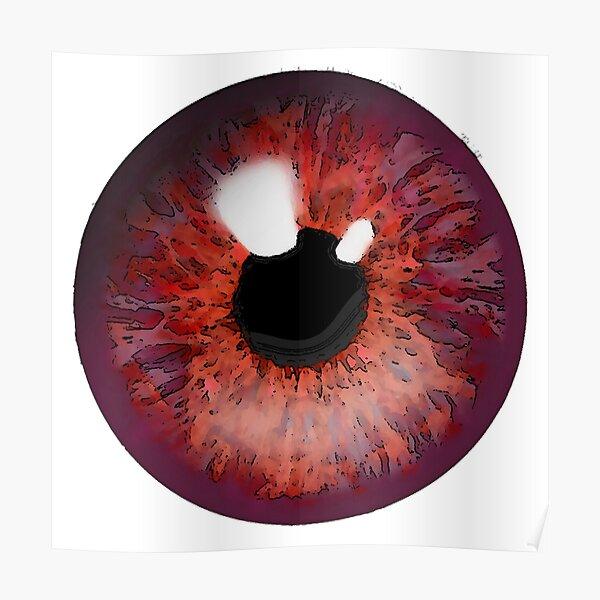 Red eye design. Poster
