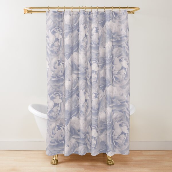 Bluette Spearwort pattern Shower Curtain
