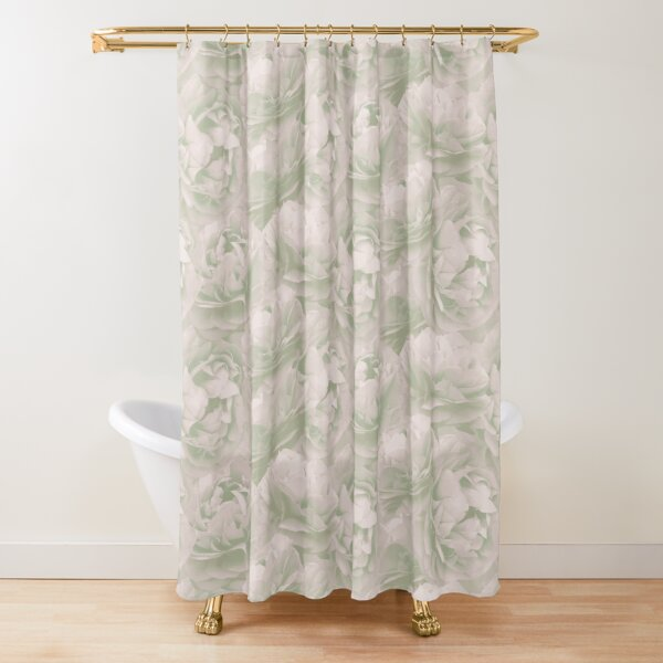 Green Spearwort pattern Shower Curtain