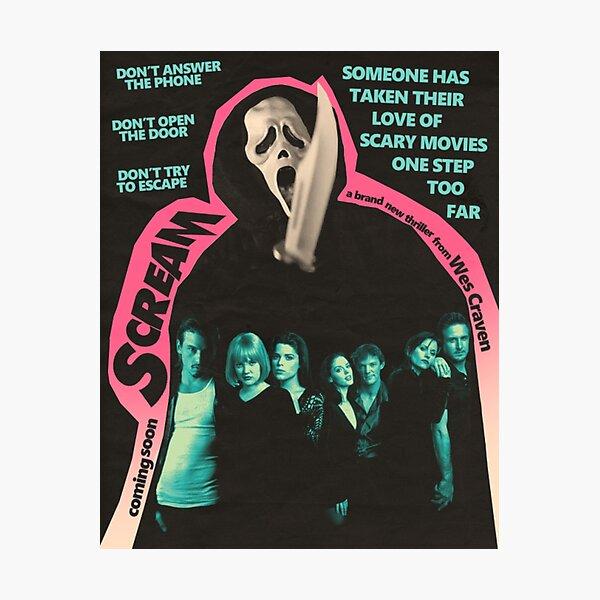 Scream Movie Poster Photographic Print