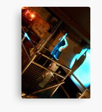 LONDON NIGHT 11 MONEY SHOT ~ POLE DANCER'S SILHOUET  Canvas Print