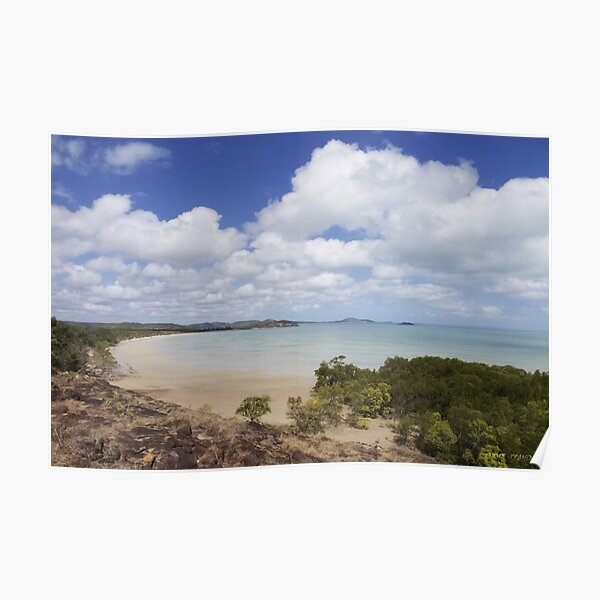 Endeavour Strait from the tip of Australia, Cape York Poster