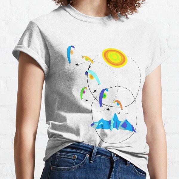 Berg, paraglider, paragliding, sun Classic T-Shirt