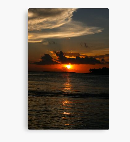 Sunset at Key West Canvas Print