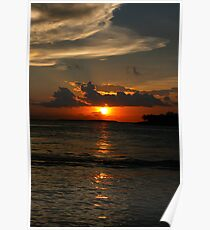 Sunset at Key West Poster