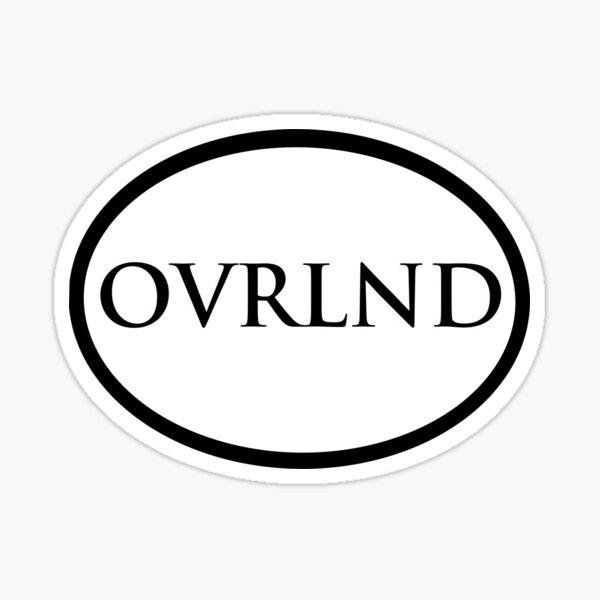 Oval overland sticker art design  Sticker