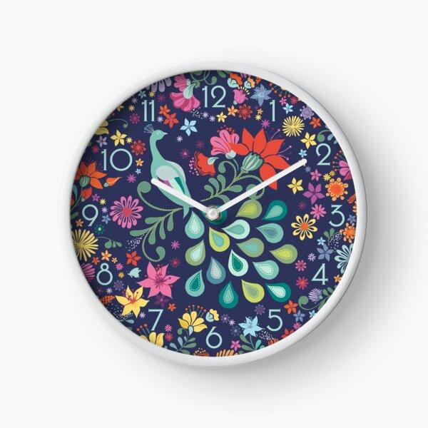 Peacock Sanctuary Clock