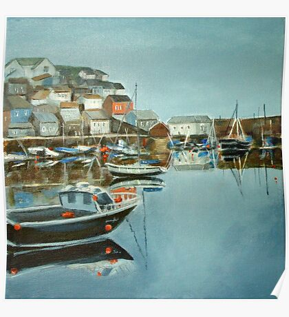 Harbour at Mevagissey Poster
