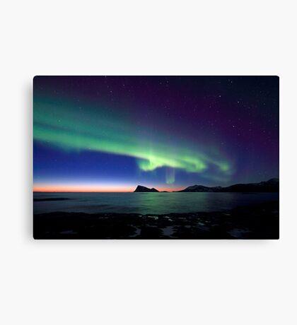 Aurora Borealis over Haja island -II Canvas Print