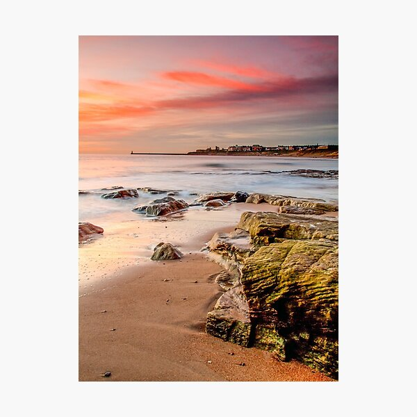 Fiery Sky Tynemouth Photographic Print