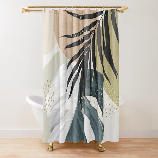 Monstera Abstract #1 #tropical #decor #art  Shower Curtain