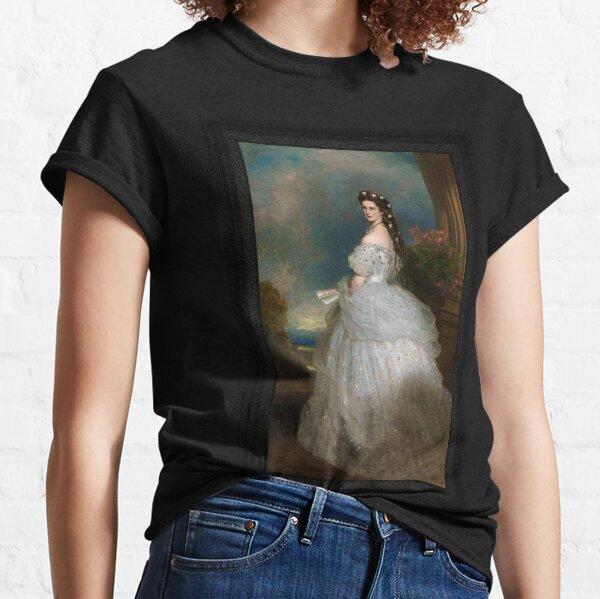 Portrait Of Empress Elisabeth of Austria by Franz Xaver Winterhalter Classic T-Shirt