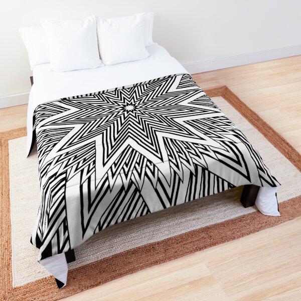 12 point Black and White Stars Comforter