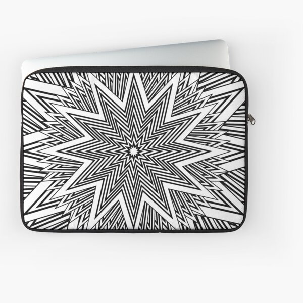 12 point Black and White Stars Laptop Sleeve