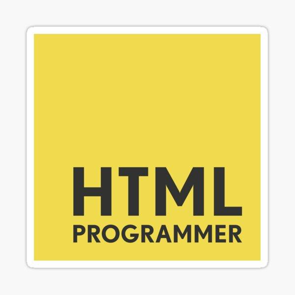 HTML Programmer Sticker
