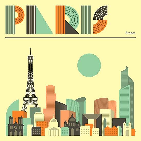 PARIS SKYLINE  by JazzberryBlue