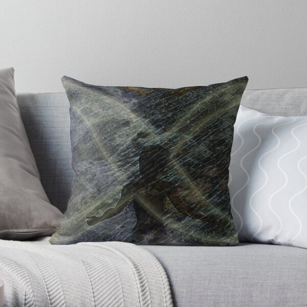 Twist of Shadow Throw Pillow
