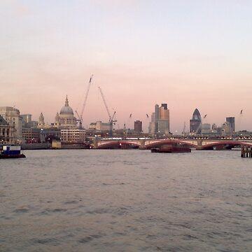 London Skyline in Evening by jackmcinally
